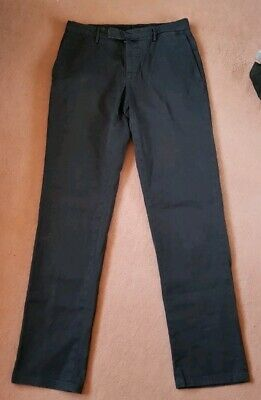 Men's Incotex Slowear Navy Blue Trousers Chinos (TO FIT XS / SMALL)