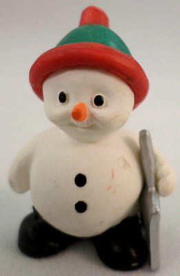 Hallmark Merry Miniatures 1990 Snowman With Shovel Let It Snow