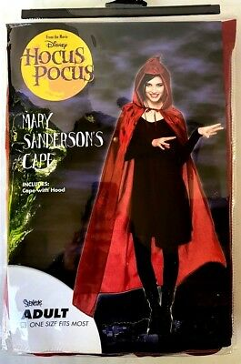 Disney Hocus Pocus Mary Sanderson CAPE Halloween Costume  NEW](Halloween Costumes Hocus Pocus)
