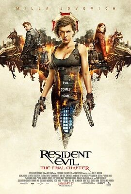 Resident Evil The Final Chapter Movie Poster 2 Sided Original Version B 27X40