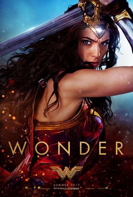 Wonder Woman Movie Poster 2 Sided Original Advance Wonder 27x40 Gal Gadot