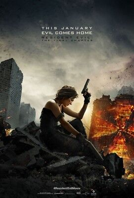 Resident Evil The Final Chapter  Movie Poster 1 Sided Original Mini Sheet 11X17