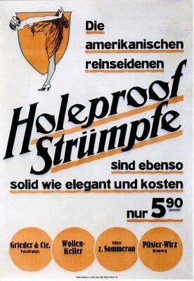 Original vintage poster HOLEPROOF AMERICAN STOCKINGS c.1920