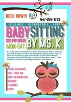 On-call babysitter!! 20/h!!! Book now!