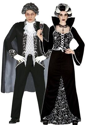 Couples Ladies AND Mens Royal Vampire Halloween Fancy Dress Costumes Outfits