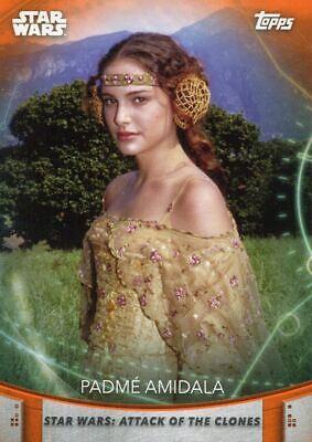Women Of Star Wars Orange Base Card #57 Padme Amidala