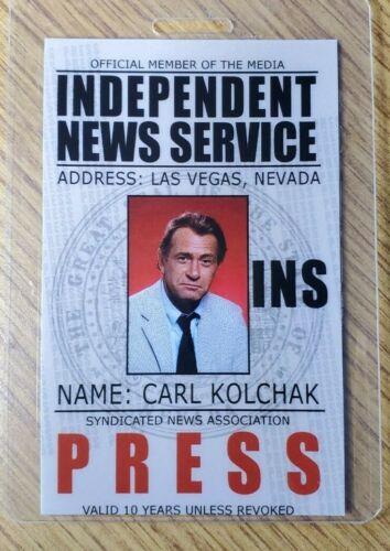 Night Stalker ID Badge-Carl Kolchak Press costume cosplay Style B