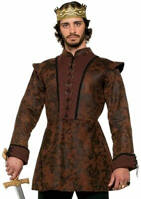 King's Coat Medieval Fantasy Game Thrones Fancy Dress Halloween Adult Costume - Halloween Game Costumes