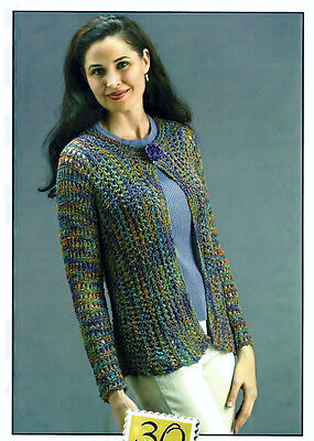 FEMININE LACE OCEANSIDE CARDIGAN to KNIT in WORSTED WEIGHT YARN - FIESTA YARNS   Lace Cardigan Knit Pattern