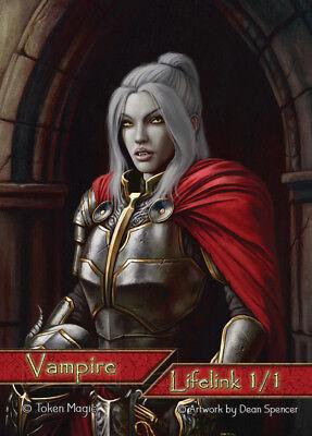 MAGIC 1x CUSTOM Vampire Token 1/1  - Lifelink!- TOKEN MAGIC- Free Ship MTG - Vampire Custome