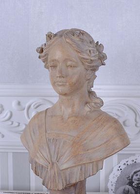 Jugendstil Büste Mädchenfigur Shabby Chic Frauenbüste Vintage
