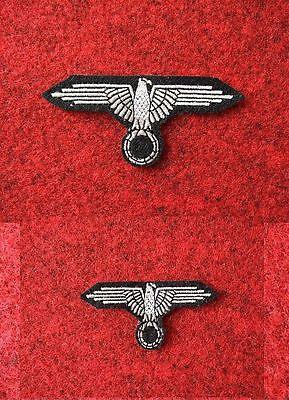 Gestickte Adler (Set Uniform u. Mützenadler Uniformabzeichen Adler -  auf Filz gestickt WWII)
