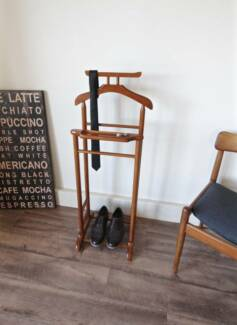 Vintage Solid Timber Valet Clothing Coat Stand, Can Deliver