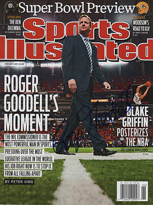 Roger Goodell Nfl Football Commissioner Signed Sports Illustrated 2 7 11 Coa