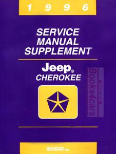 JEEP CHEROKEE 1996 SHOP MANUAL SERVICE REPAIR SUPPLEMENT BOOK