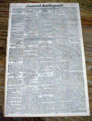 1811 Washington DC newspaper w US NAVY & ARMY appropriations for the War of 1812