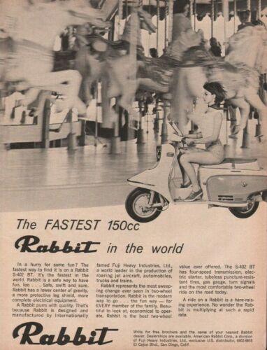 1965 Rabbit S-402 BT Fuji Industries Motor Scooter - Vintage Motorcycle Ad
