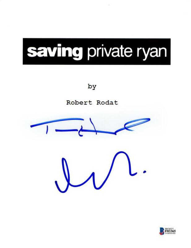TOM HANKS MATT DAMON SIGNED SAVING PRIVATE RYAN SCRIPT AUTOGRAPH BECKETT COA