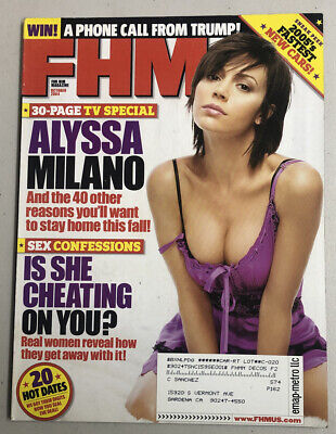 FHM Magazine October 2004 Alyssa Milano Eva Longoria Roger Ebert