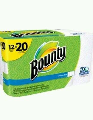 Bounty Select-a-Size Mega Roll Paper Towels, 105 Sheets, 12 Rolls NO TAX!!