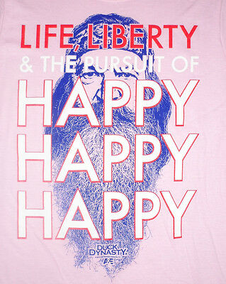 Duck Dynasty Women's Life, Liberty, & The Pursuit of Happy Happy Happy T Shirt   (Duck Dynasty Women)