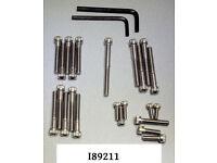 Motorschraubensatz V2A edelstahl unit single B25 C15 B40 BSA cycle allen screw
