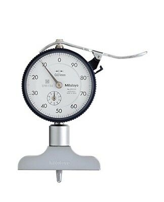 Mitutoyo Dial Depth Gage Gauge 0-200mm 0.01mm 10mm Stroke 63.5mm X 16mm Base
