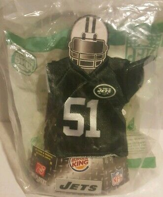 Burger King NFL Mini Jersey New York NY Jets #51 Jonathan Vilma 2007 Sealed New