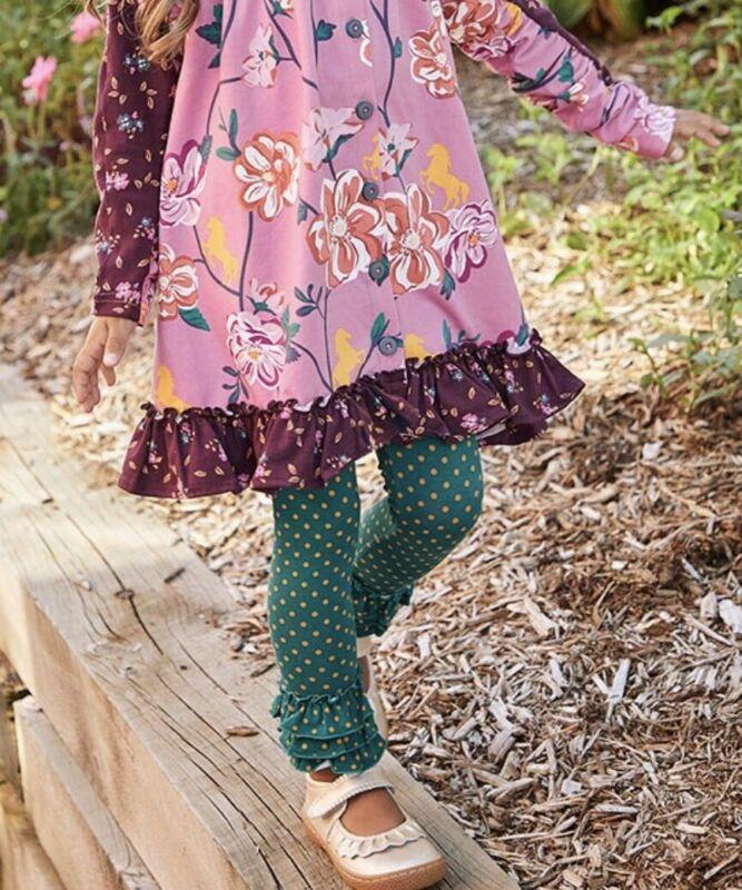 Matilda Jane Girls Community Garden Legging Sz 6 New In Bag