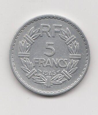 5 Francs  Frankreich   1945     (2234)