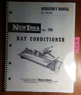 New Idea 750 Hay Conditioner Owner Operators Repair Parts Manual Hc-151 260