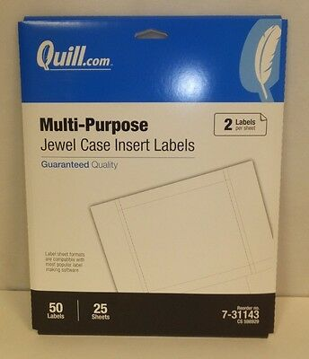 50 Pack Multi-purpose Jewel Case Label Inserts (7-31143)