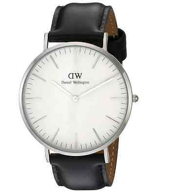 Brand New Daniel Wellington Sheffield 0206DW Black Leather 40mm Mens Watch