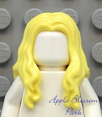Girls Pirate Hair (NEW Lego Girl Minifig Long BLONDE HAIR Pirate Female Yellow Minifigure Head)