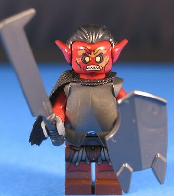 LEGO® LORD OF THE RINGS™ URUK HAI WARRIOR Custom Minifigure +Dk Red POINTED EARS for sale  Shipping to India