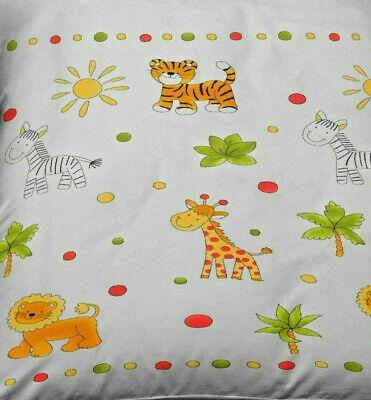 Baby Bettwäsche 100x135 cm Tiere Safari weiß Baumwolle B-Ware