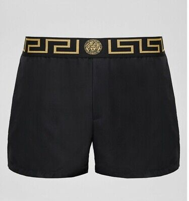 Mens Versace Black Swim Shorts (32 Waist)