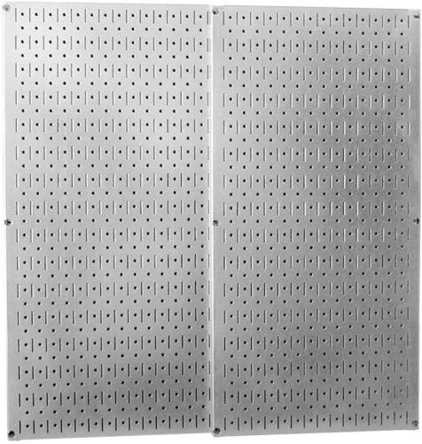 2 Pack Metal Wall Pegboard Peg Board Panel Organizer Shelf Display Tools Garage