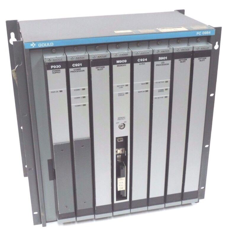 GOULD MODICON AS-984B-128 MODULE 200 I / O SYS 24BIT 128K W/ S902 MEMORY MODULE