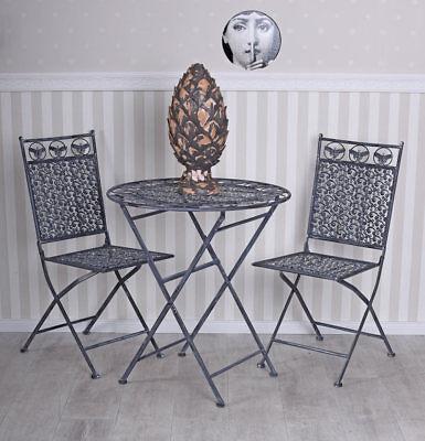 Muebles de Hierro Asiento Varias Plazas Casa Campo Juego Jardín Mesa Dos