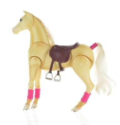 2006 Barbie and Jumping Tawny Neighing Horse W/ Sounds