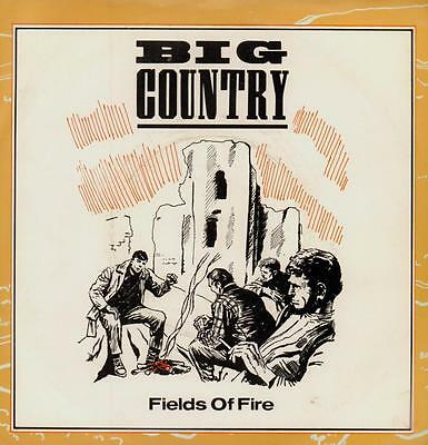"Big Country(7"" Vinyl P/S)Fields Of Fire-Ex/Ex"