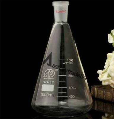 50-2000ml Quickfit Ground Joint Conical Flask Erlenmeyer Lab Glassware