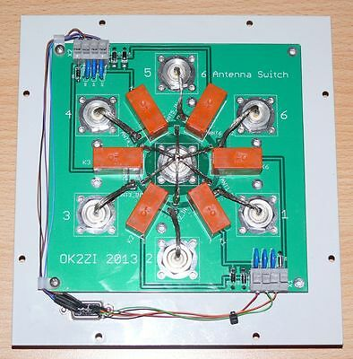 DIY 6:1 1.8-30MHz remote antenna switch bare PCB SO-239 cheap