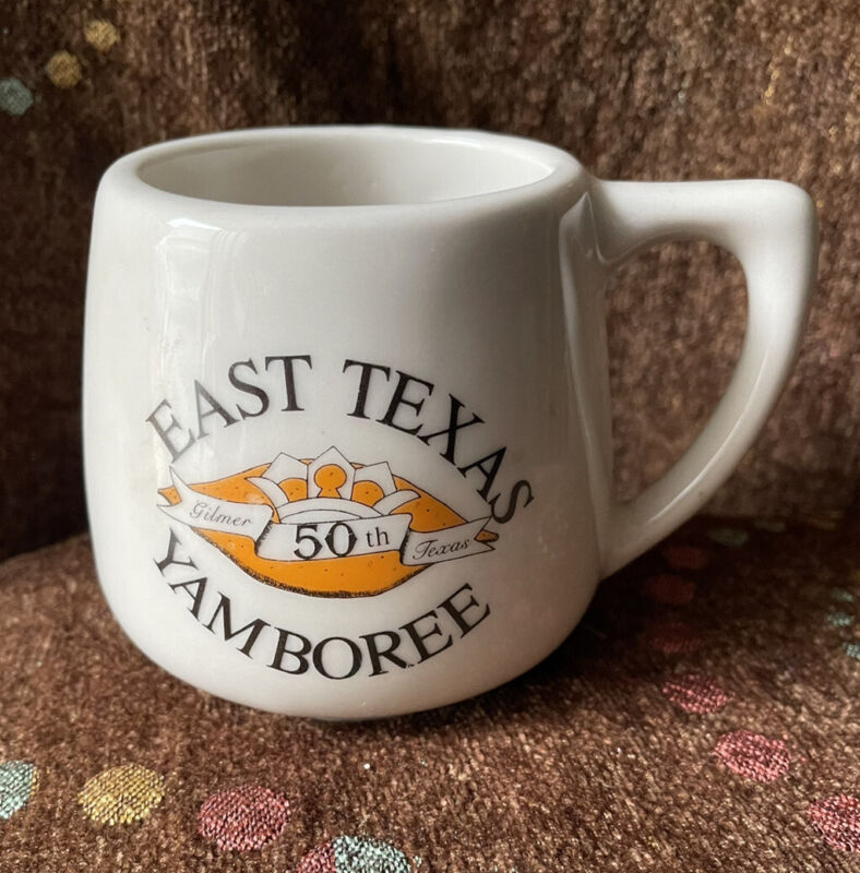 Vintage 1987 East Texas Yamboree 50th Anniversary Mug - Gilmer Pottery - Texas