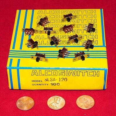 Alcoswitch Te - Spdt Mini Slide Switch Pn Slsa-120 - Factory Box Of 100 Pcs