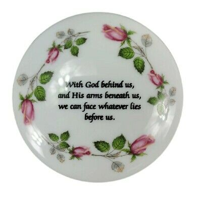 Porcelain Jewelry Ring Trinket Dish Christian Bible God
