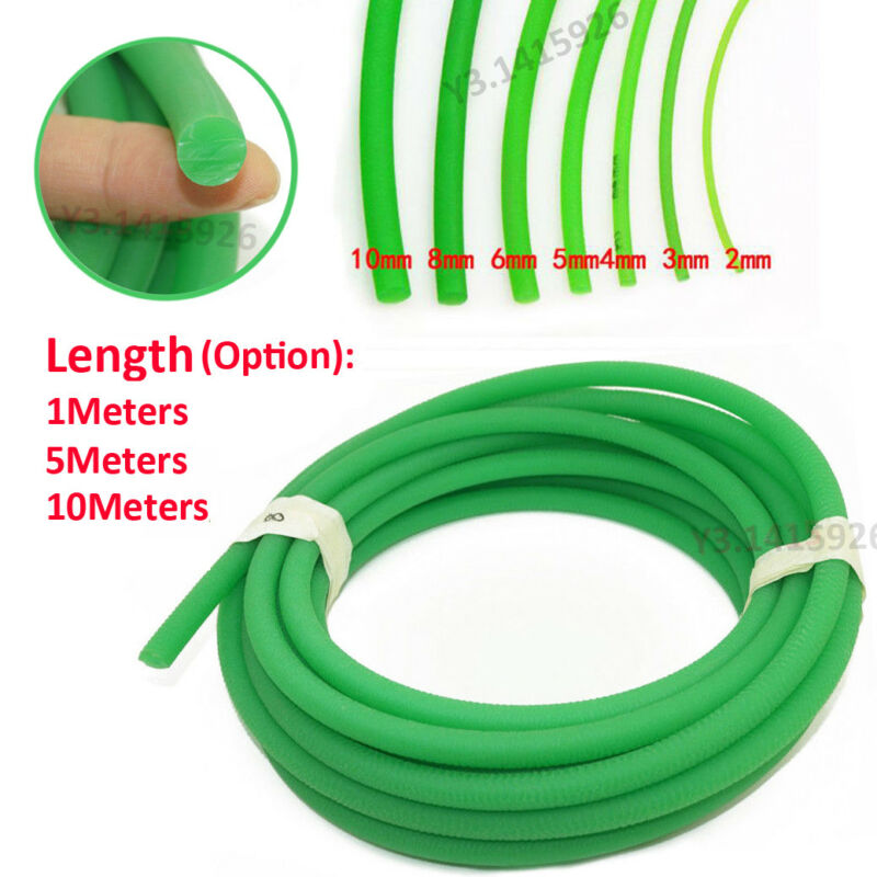 Round Urethane Drive Belt Diameter 2/3/4/5/6/8/10mm Rough Surface Green 1 Mater