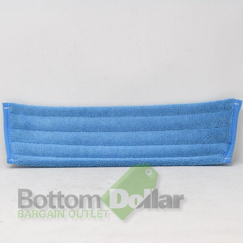 "Skilcraft 30761 12 Pack 18"" Microfiber Blue Flat Mops NSN 7920-01-565-4597"
