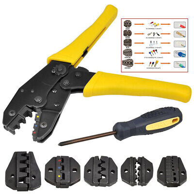 Insulated Cable Electrical Wire Connector Terminal Crimping Tool Crimper Kit